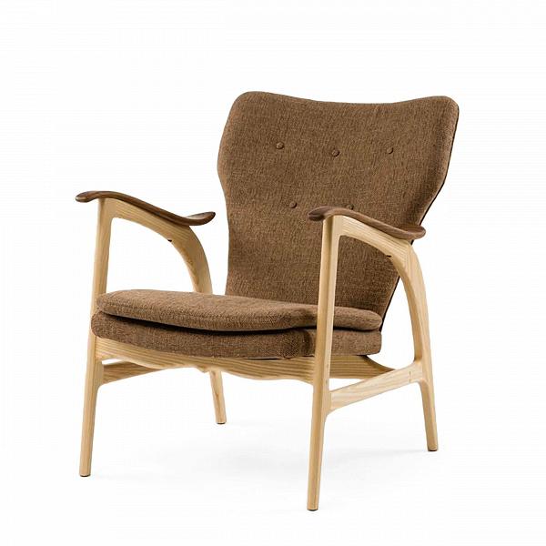 Кресло Model 3Интерьерные<br>Дизайнерское кресло Model 3 (Модел 3) с подлокотниками на высоких ножках от Cosmo (Космо).<br><br><br> Представленное в четырех цветовых решениях кресло Model 3 — результат работы бесспорного мастера датского дизайна и одной изВведущих фигур вВмебельном дизайне XXВвека Ханса Вегнера, подаренный современному придирчивому потребителю, ценящему высокий уровень. Стиль этого невероятноВпрактичного кресла — отпечаток многовековой истории в области дизайна и интерьера.<br> <br> Изящные л...<br><br>stock: 0<br>Высота: 84<br>Высота сиденья: 42,5<br>Ширина: 67<br>Глубина: 77<br>Материал каркаса: Массив ясеня<br>Материал обивки: Полиэстер<br>Тип материала каркаса: Дерево<br>Коллекция ткани: D Fabric<br>Тип материала обивки: Ткань<br>Цвет обивки: Бежево-коричневая<br>Цвет каркаса: Светло-коричневый<br>Дизайнер: Hans Wegner