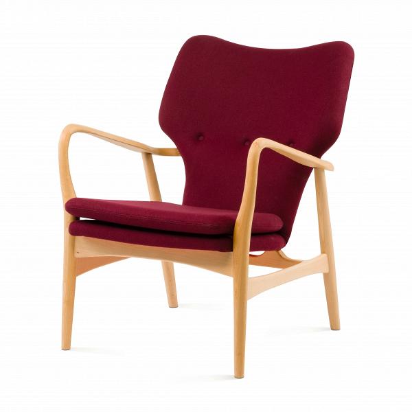 Кресло SimonИнтерьерные<br>Дизайнерское глубокое кресло Simon (Саймон) с каркасом из дерева от Cosmo (Космо).<br><br>Кресло Simon<br>— результат работы скандинавских проектировщиков, подаренный современному придирчивому потребителю, ценящему высокий уровень. Стиль этого невероятноВпрактичного кресла — отпечаток многовековой истории в области дизайна и интерьера. Изящные линии подлокотников, сглаженные углы сиденья и ножек кресла — словно пища для глаз! Несомненно, с этим высказыванием согласятся все приверженцы натура...<br><br>stock: 0<br>Высота: 85,5<br>Высота сиденья: 44<br>Ширина: 68,5<br>Глубина: 76<br>Материал каркаса: Массив бука<br>Материал обивки: Шерсть, Нейлон<br>Тип материала каркаса: Дерево<br>Коллекция ткани: T Fabric<br>Тип материала обивки: Ткань<br>Цвет обивки: Бургунди<br>Цвет каркаса: Светло-коричневый<br>Дизайнер: Finn Juhl