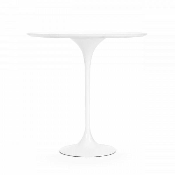 Кофейный стол Tulip с мраморной столешницей высота 52Кофейные столики<br>Дизайнерский кофейный круглый стол Tulip (Тулип) высота 52 с мраморной столешницей на одной ножке от Cosmo (Космо).<br><br><br> УВкаждого знаменитого дизайнера прошлого столетия есть своя «формула вечного дизайна», аВзначит, есть иВпроизведения дизайнерского искусства, которые уже много лет неВвыходят изВмоды, неВтеряют своей актуальности иВвостребованы поВсей день. Оригинальный стол Tulip как раз был разработан при помощи такой формулы, которую вывел Ээро...<br><br>stock: 7<br>Высота: 52,5<br>Диаметр: 52<br>Цвет ножек: Белый глянец<br>Цвет столешницы: Белый<br>Материал столешницы: Мрамор китайский<br>Тип материала столешницы: Мрамор<br>Тип материала ножек: Алюминий<br>Дизайнер: Eero Saarinen