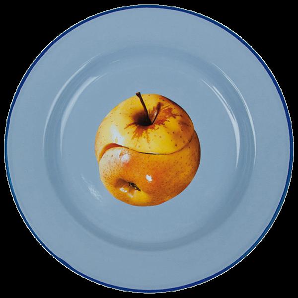 Тарелка Apple эмалированная