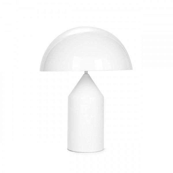 Настольный светильник AtolloНастольные<br>Дизайнерский настольный светильник Atollo (Атолло) на толстой ножке от Cosmo (Космо).<br><br><br> Уникальный футуристический стиль, легкость формы и минимализм — именно эти черты присущи современному дизайну в стиле хай-тек. И именно такими чертами обладает настольный светильник Atollo, который буквально притягивает взгляд своим удивительным внешним видом, напоминающим нам о мире высоких технологий. Светильник создан итальянским дизайнером Вико Маджистретти, творческим кредо которого были рентаб...<br><br>stock: 0<br>Высота: 50<br>Диаметр: 38<br>Количество ламп: 2<br>Материал абажура: Алюминий<br>Мощность лампы: 40<br>Ламп в комплекте: Нет<br>Напряжение: 220<br>Тип лампы/цоколь: E27<br>Цвет абажура: Белый<br>Дизайнер: Vico Magistretti