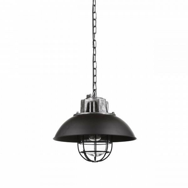 Подвесной светильник HoxtonПодвесные<br>Лофт — весьма оригинальный стиль, который допускает смешение совершенно разных направлений как в обстановке, так и в элементах декора. Ярким представителем стиля является подвесной светильник Hoxton — неповторимый дизайн, объединивший в себе черты нью-йоркского стиля и современного хай-тек-оформления.<br><br><br> Подвесной светильник Hoxton представляет собой необычную конструкцию из черного основания, плафона в виде круглого купола и необычной конструкции в виде клетки, в которую помещается ла...<br><br>stock: 2<br>Высота: 41<br>Длина: 44<br>Длина провода: 150<br>Количество ламп: 1<br>Материал абажура: Сталь<br>Мощность лампы: 40<br>Ламп в комплекте: Нет<br>Напряжение: 220<br>Тип лампы/цоколь: E27<br>Цвет абажура: Черный<br>Цвет провода: Черный
