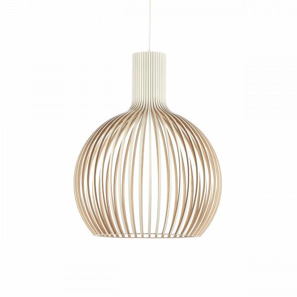 Подвесной светильник Octo 4240Подвесные<br>Подвесной светильник Octo 4240<br><br> Компания Secto Design является финским производителем дизайнерских светильников изВдерева, обретающих всемирную известность. Изготавливаемые вручную высококвалифицированными специалистами изВнатуральной древесины березы, они наделены простотой иВчеткостью скандинавского стиля. Торшеры, подвесные светильники иВнастенные бра, аВтакже настольные лампы обеспечивают мягкое свечение иВпридают атмосферность любому помещению.<br><br><br> Под...<br><br>stock: 0<br>Высота: 68<br>Диаметр: 54<br>Количество ламп: 1<br>Материал арматуры: Береза<br>Мощность лампы: 40<br>Ламп в комплекте: Нет<br>Напряжение: 220<br>Теплота света: 3000<br>Тип лампы/цоколь: E27<br>Цвет арматуры: Белый<br>Дизайнер: Seppo Koho