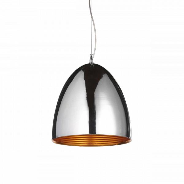 Подвесной светильник Cowl диаметр 30Подвесные<br>Подвесной светильник Cowl диаметр 30 — это дизайнерское изделие, выполненное в лучших традициях стиля хай-тек. Это течение уже с 1980-х годов выражало престижностьВ(все здания хай-тек очень дорогие). Знаменитый американский архитектор Чарлз Дженкс называет их «банковскими соборами», можно даже говорить о том, что современный хай-тек формирует имиджВкрупнейших коммерческих фирм. В Лондоне архитектурные дебаты вокруг хай-тек утихли, а наиболее яркие его представители признаны и пол...<br><br>stock: 20<br>Диаметр: 30<br>Длина провода: 150<br>Доп. цвет абажура: Золотой<br>Материал абажура: Сталь<br>Мощность лампы: 40<br>Ламп в комплекте: Нет<br>Напряжение: 220<br>Тип лампы/цоколь: E27<br>Цвет абажура: Хром<br>Цвет провода: Черный