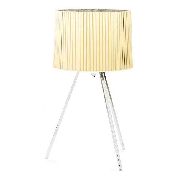 Настольный светильник Axo Light ObiНастольные<br>Дизайнерский желтый настольный светильник Axo Light Obi (Эксо Лайт Оби) на трех ножках от Cosmo (Космо).<br><br> Obi является частью японского кимоно. Это лента, предназначенная для того, чтобы утянуть кимоно или подогнать его длину. Здесь всё имеет значение, любая мелочь. Как иВвВсерии светильников Obi, которые, несмотря наВвнешнюю свою простоту, наполнены важными деталями, незаметными наВпервый взгляд. <br><br><br> Подобное внимание кВдеталям, чередование длинных линий на...<br><br>stock: 3<br>Высота: 83<br>Диаметр: 43<br>Количество ламп: 3<br>Материал абажура: Ткань<br>Материал арматуры: Металл<br>Ламп в комплекте: Нет<br>Напряжение: 220<br>Тип лампы/цоколь: E27<br>Цвет абажура: Желтый<br>Дизайнер: Manuel Vivian