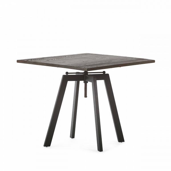 Обеденный стол ToughОбеденные<br>Дизайнерская квадратный обеденный стол Tough в индустриальном стиле со столешницей из массива дерева от Cosmo (Космо).Никакая обеденная зона не обойдется без обеденного стола — полноценного участника интерьера, собирающего всю семью за трапезой. Стол Tough — это массивный обеденный стол в индустриальном стиле, о чем говорят подобранные материалы и конструкция изделия. Антикварная столешница из натурального дерева в сочетании с грубым металлом выглядит эффектно и колоритно.В<br> <br> Важным м...<br><br>stock: 0<br>Высота: 72-92<br>Ширина: 80<br>Длина: 80<br>Цвет ножек: Черный<br>Цвет столешницы: Темно-коричневый состаренный<br>Материал столешницы: Массив ивы<br>Тип материала столешницы: Дерево<br>Тип материала ножек: Сталь