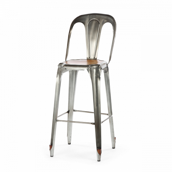 Барный стул Marais со спинкойБарные<br>Дизайнерский коричневый деревянный барный стул Marais (Марэй) со спинкой от Cosmo (Космо). <br>Стулья Tolix плотно вошли в ряды знаковых предметов интерьера. Их бурно растущая с 1934 года популярность обеспечила им место в истории дизайна.ВКоллекции стульев Tolix выставлялись на различных крупных выставках: в Нью-ЙоркскомВмузее современного искусства и Центре Помпиду. Буквально ставшие легендой стульяВиз листового металлаВнепременно понравятся каждому. Их надежная прочность,...<br><br>stock: 10<br>Высота: 102<br>Высота сиденья: 75<br>Ширина: 42<br>Глубина: 56<br>Тип материала каркаса: Сталь<br>Материал сидения: Массив ивы<br>Цвет сидения: Коричневый<br>Тип материала сидения: Дерево<br>Цвет каркаса: Бронза пушечная<br>Дизайнер: Xavier Pauchard