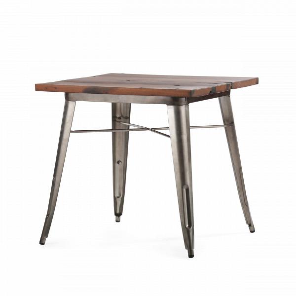 Обеденный стол TolixОбеденные<br>Дизайнерская квадратный обеденный стол Tolix на металлическом каркасе с состаренной деревянной столешницей от Cosmo (Космо).Данная модель обеденного стола — это одна из вариаций столов из коллекции Tolix, которая представляет собой широкий ассортимент мебельной продукции. КаждаяВмодельВсчитается эталоном современного дизайна, впервые появившегося в свет в тридцатые года прошлого столетия. Когда французский дизайнер Ксавье Пошар разработал особый метод обработки металла, гальванизаци...<br><br>stock: 5<br>Высота: 77<br>Ширина: 80<br>Длина: 80<br>Цвет ножек: Бронза пушечная<br>Цвет столешницы: Коричневый<br>Материал столешницы: Массив состаренного дерева<br>Тип материала столешницы: Дерево<br>Тип материала ножек: Сталь<br>Дизайнер: Xavier Pauchard
