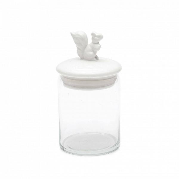 Банка SquirrelПосуда<br>Итальянская компания Seletti известна своим необычным подходом к созданию привычных предметов обихода. Набор посуды Twitter — это поэтичность и чистая эстетика без излишней серьезности. Сказочная фигурка белочки, которая сидит на небольшой фарфоровой крышке банки Squirrel, составит компанию за завтраком не только детям, но и взрослым, которые по-прежнему верят в чудеса.<br><br>В коллекции также есть банка с фигуркой олененка.<br> Благодаря качеству белоснежного фарфора и тонкой проработке детал...<br><br>stock: 0<br>Высота: 11<br>Материал: Фарфор<br>Диаметр: 8,4