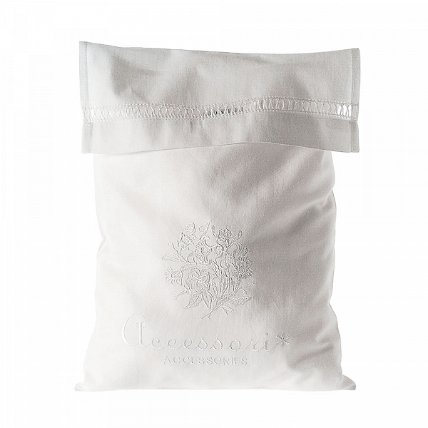Сумка AccessoriesРазное<br>Дизайнерский белая хлопковая сумка-мешок Accessories (Аксессуарс) для белья и одежды от Seletti (Селетти).<br><br>     Итальянский бренд Seletti производит не только суперсовременные и зачастую провокационные предметы декора, но и вполне традиционные вещи, позаимствованные из мира беленых домиков, черепичных крыш и старых олив на побережье.<br><br><br>     Коллекция оригинальных хлопчатобумажных мешочков и чехлов для белья и одежды так и называется — Guardaroba Mediterraneo, «Средиземноморский гардероб...<br><br>stock: 14<br>Ширина: 36<br>Материал: Хлопок<br>Длина: 28