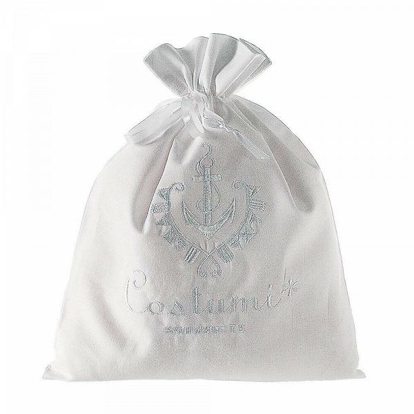 Сумка SwimsuitРазное<br>Дизайнерская белая сумка-мешок Swimsuit (Свимсют) из хлопка для белья и одежды от Seletti (Селетти).<br><br>     Итальянский бренд Seletti производит не только суперсовременные и зачастую провокационные предметы декора, но и вполне традиционные вещи, позаимствованные из мира беленых домиков, черепичных крыш и старых олив на побережье.<br><br><br>     Коллекция оригинальных хлопчатобумажных мешочков и чехлов для белья и одежды так и называется — Guardaroba Mediterraneo, «Средиземноморский гардероб». Ра...<br><br>stock: 30<br>Ширина: 32<br>Материал: Хлопок<br>Длина: 25