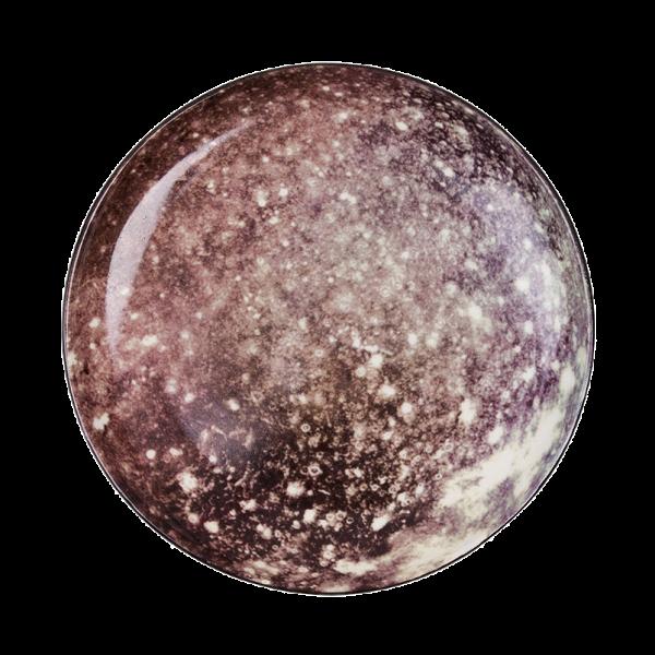Тарелка CallistoПосуда<br>Перенесите свой обеденный стол в далекие и неизведанные уголки Вселенной вместе коллекцией посуды от Seletti. Данная коллекция разработана совместно с компанией Diesel, которая успешно создает свои тренды не только в области производства одежды, но интерьера. <br> <br> В соотношении с целой Вселенной обеденная зона — это крохотный уголок, но с коллекцией Cosmic Dinner это вовсе не так. Эти модные планетарные тарелки будто расширяют границы возможного и приглашают всю Вселенную к вам на обед. <br>...<br><br>stock: 10<br>Высота: 2<br>Материал: Фарфор<br>Цвет: Коричневый<br>Диаметр: 16,5