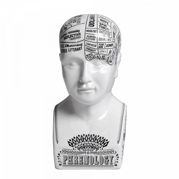 Статуэтка PhrenologyНастольные<br>Дизайнерская белая статуэтка Phrenology (Френология) из фарфора в форме бюста от Seletti (Селетти).<br><br><br> Оригинальная статуэтка Phrenology — результат вдохновенияВстатуямиВэпохи Ренессанса, но выполнена она в духе американских «табличек-вдохновляшек» (англ. ispirational signs). Это не просто предмет декора, который, кстати, с легкостью можно разместить на любой горизонтальной поверхности, но и самый настоящий мотиватор. Все эти надписи (Hope, Observing, Spirituality, Positive Rea...<br><br>stock: 0<br>Высота: 35<br>Материал: Фарфор<br>Цвет: Белый