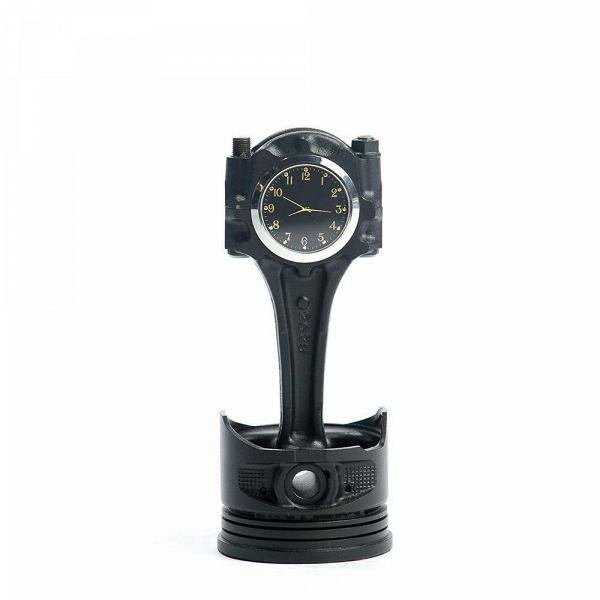 Часы  (лак)Часы<br>Дизайнерские темно-синие настольные часы с металлической арматурой от LOFTPART (Лофтпарт).<br><br>stock: 1<br>Высота: 2,5<br>Диаметр: 8<br>Материал арматуры: Металл