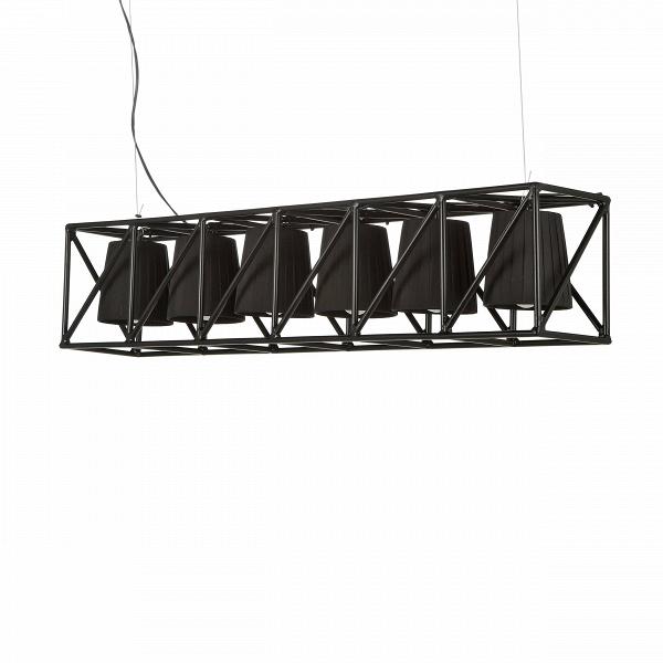 Подвесной светильник  MultilampПодвесные<br>Подвесной светильник Multilamp от дизайнера Эмануэле Маджини — это ультрамодный софит, соединяющий в себе свет шести ярких LED-ламп. Строгий дизайн светильника определенно придется по вкусу всем любителям грубоватых форм. Четкие грани и правильные геометрические формы изделия говорят о превосходном вкусе создателей этого софита.<br> <br> Порой компания Seletti, для которой подвесной светильник Multilamp и был разработан, демонстрирует совершенно необычные для себя линейки. Но тут компания осталас...<br><br>stock: 0<br>Высота: 22<br>Ширина: 22<br>Длина: 103<br>Материал арматуры: Металл<br>Цвет арматуры: Черный