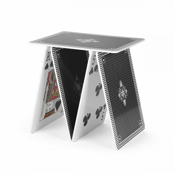Кофейный стол A la carteКофейные столики<br>Дизайнерский кофейный стол A la carte (Э ле карт) в форме фигуры из игральных карт от Seletti (Селетти).<br><br>У вас на руках все козыри, и будьте уверены, что ваш интерьер,Вобновленный кофейным столом A la carte от компании Seletti, определенно будет выигрышным.ВУ Seletti всегда припасена парочкаВтузов в рукаве специально для вас! <br> <br> Стол выполнен из оченьВпрочного материала, благодаря которому он устойчив и надежен. Яркие цвета изображений карт, напечатанные на внутрен...<br><br>stock: 0<br>Высота: 50<br>Ширина: 36<br>Длина: 50<br>Тип материала каркаса: МДФ<br>Цвет каркаса: Черный
