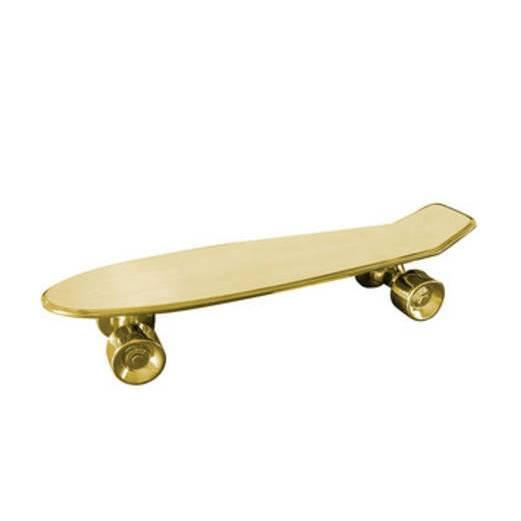 Статуэтка My SkateboardНастольные<br>Компания Seletti нередко представляет новинки, которые способны изрядно удивить. Статуэтка My Skateboard как раз их их числа. Суть в том, что оно крайне многофункционально, сегодня вы можете его использовать как поднос, завтра — как подставку под цветы, а можете и совсем перестать присваивать всем предметам какую-либо функциональность и использовать этот поднос в качествеВдекора. <br> <br> Статуэтка My Skateboard из коллекцииВMemorabilia — это вещица, которая идеально подойдет для интер...<br><br>stock: 0<br>Высота: 11<br>Материал: Фарфор<br>Цвет: Золотой/Gold<br>Длина: 58