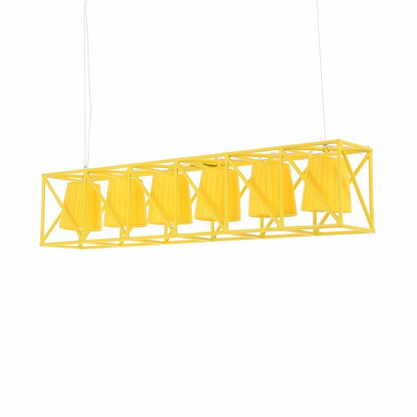 Подвесной светильник  MultilampПодвесные<br>Подвесной светильник Multilamp от дизайнера Эмануэле Маджини — это ультрамодный софит, соединяющий в себе свет шести ярких LED-ламп. Строгий дизайн светильника определенно придется по вкусу всем любителям грубоватых форм. Четкие грани и правильные геометрические формы изделия говорят о превосходном вкусе создателей этого софита.<br> <br> Порой компания Seletti, для которой подвесной светильник Multilamp и был разработан, демонстрирует совершенно необычные для себя линейки. Но тут компания осталас...<br><br>stock: 0<br>Высота: 22<br>Ширина: 22<br>Длина: 103<br>Материал арматуры: Металл<br>Цвет арматуры: Желтый