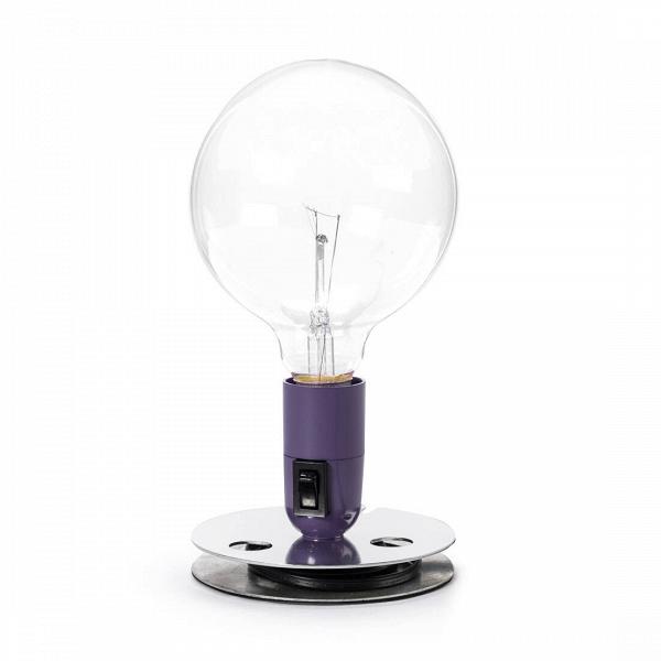 Настольный светильник Lampadina EDНастольные<br>Дизайнерский настольный светильник Lampadina ED (Лампадина ED) в стиле DIY от Cosmo (Космо).<br><br><br> Настольный светильник Lampadina ED спроектирован итальянским дизайнером Акилле Кастильони ещеВвВ1972 году. В ее названии автор отразил гениальную лаконичность самого светильника. Lampadina с итальянского — просто «лампа». Все коротко и ясно!В<br><br><br><br><br> Оригинальный светильник выполнен в духе «сделай сам» (DIY — do it yourself), что в наших широтах понимается, как «самоделка». Т...<br><br>stock: 8<br>Высота: 22,5<br>Диаметр: 12,5<br>Материал арматуры: Сталь<br>Напряжение: 220<br>Цвет абажура: Фиолетовый<br>Дизайнер: Achille Castiglioni