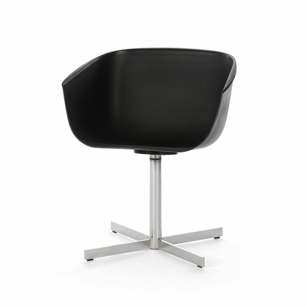 Стул VisitorИнтерьерные<br>Дизайнерский черный стул Visitor (Визитор) в форме чаши на стальной хромированной ножке от Cosmo (Космо).<br><br>     Необычный иВвВтоВже время строгий иВсдержанный — отличный кандидат на роль мебели в офисе креативного и целеустремленного коллектива. Стул Visitor — классическая модель офисной мебели, которая так часто встречается наВработе, воВвремя обеденного перерыва, заВдомашним компьютером иВдаже воВвремя отдыха.<br><br>Удобный, оригинальный, простой ...<br><br>stock: 3<br>Высота: 72,5<br>Высота сиденья: 44,5<br>Ширина: 59<br>Глубина: 53<br>Цвет ножек: Хром<br>Цвет сидения: Черный<br>Тип материала сидения: Полипропилен<br>Тип материала ножек: Сталь