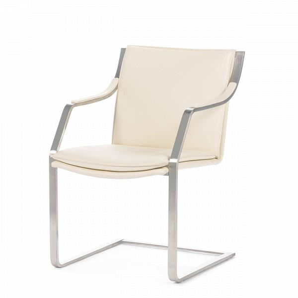 Кресло AstorОфисные<br>Простой профиль, ясные линии иВтщательное внимание кВдеталям сделали кресло Astor иконой мебели XXВвека.<br><br><br> Современности изделию придают ножки стула. Здесь они приняли непривычную форму: вместо четырех ножек появилась хромированная рама, которая не менее надежна, чем традиционная конструкция. Нежный тон обивки подойдет современному интерьеру не только дома, но и офиса. Гостиницы, отели, офисы — вот небольшой список мест, где кресла Astor не только пригодятся, но и укра...<br><br>stock: 0<br>Высота: 84<br>Высота сиденья: 45<br>Ширина: 55,5<br>Глубина: 66<br>Тип материала каркаса: Сталь нержавеющя<br>Коллекция ткани: Deluxe<br>Тип материала обивки: Кожа<br>Цвет обивки: Кремовый<br>Цвет каркаса: Хром