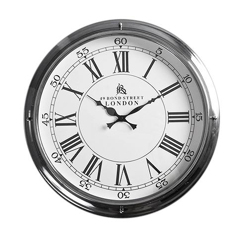 Часы настенные (37-707-45)Часы<br>Круглые настенные металлические часы в классическом стиле.<br><br>stock: 10<br>Высота: 45<br>Ширина: 14<br>Материал: металл, стекло<br>Цвет: chrom<br>Длина: 45<br>Ширина: 14<br>Высота: 45<br>Длина: 45