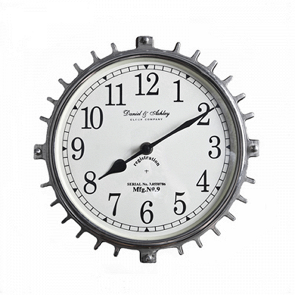 Часы настенные (45-382-19)Часы<br>Дизайнерские круглые настенные часы из металла в форме шестеренки от Roomers (Румерс).<br><br>stock: 8<br>Высота: 19<br>Ширина: 6<br>Материал: металл, стекло<br>Цвет: chrom<br>Длина: 19<br>Ширина: 6<br>Высота: 19<br>Длина: 19