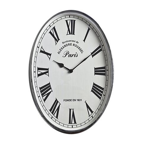 Часы  (47-325-46)Часы<br>Дизайнерские белые настенные часы с металлическим каркасом от Roomers (Румерс).<br><br>stock: 4<br>Высота: 46<br>Ширина: 5<br>Материал: металл, стекло<br>Цвет: chrom<br>Длина: 32<br>Ширина: 5<br>Высота: 46<br>Длина: 32