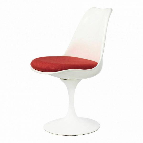 Стул TulipИнтерьерные<br>Дизайнерский стул Tulip (Тьюлип) из стекловолокна на алюминиевой ножке от Cosmo (Космо).<br><br> Стул Tulip — это один из самых знаменитых предметов мебели, он был разработан в 1958 году Ээро Саариненом. Поистине футуристический дизайн и классика модерна. Первый в мире одноногий стул изменил будущее дизайна мебели. Формой стул напоминает бокал или, как видно из названия, — тюльпан. Уникальное основание постамента обеспечивает устойчивость и выглядит эстетически привлекательным. Избавив стул от тр...<br><br>stock: 0<br>Высота: 81<br>Высота сиденья: 46<br>Ширина: 49,5<br>Глубина: 53<br>Цвет ножек: Белый матовый<br>Механизмы: Поворотная функция<br>Тип материала каркаса: Стекловолокно<br>Материал сидения: Шерсть, Нейлон<br>Цвет сидения: Бордовый<br>Тип материала сидения: Ткань<br>Коллекция ткани: B Fabric<br>Тип материала ножек: Алюминий<br>Цвет каркаса: Белый матовый<br>Дизайнер: Eero Saarinen