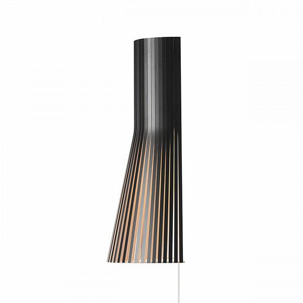Настенный светильник Secto 4231Настенные<br>Финский дизайнерский настенный светильник Secto 4231 выполнен из натурального дерева — березы, которой присуща мягкость наряду с прочностью. Современный и ультрамодный настенный светильник изготовлен вручную, поэтому в каждое изделие вложена частичка Скандинавии. Его дизайн довольно прост, но вместе с тем и практичен: такая форма дает нужное количество света, светильник не обременяет, а дополняет интерьер.<br><br><br><br> Настенный светильник Secto 4231 изготовлен по эскизам финского дизайнер...<br><br>stock: 0<br>Высота: 45<br>Ширина: 15<br>Диаметр: 25<br>Количество ламп: 1<br>Материал арматуры: Береза<br>Мощность лампы: 40<br>Ламп в комплекте: Нет<br>Напряжение: 220<br>Теплота света: 3000<br>Тип лампы/цоколь: E14<br>Цвет арматуры: Черный<br>Дизайнер: Seppo Koho