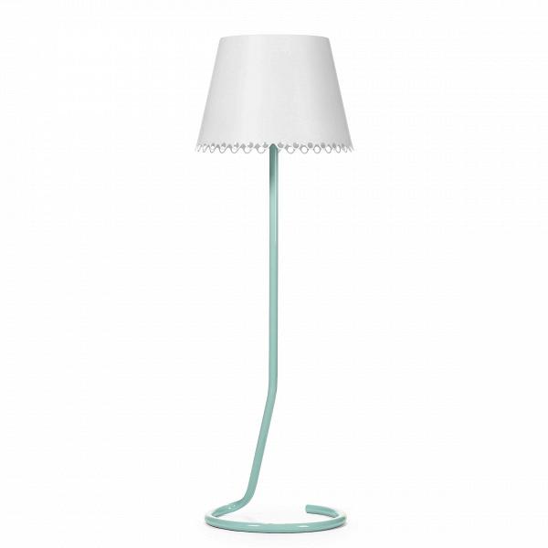 Напольный светильник LolaНапольные<br>Напольный светильник Lola — прекрасный аксессуар для комнаты в стиле фьюжн, сочетающем романтизм с минимализмом и элементы роскошной классики с гламурным хай-теком.<br><br><br> Авторская разработка модели удивительно проста и одновременно изысканна. Большой, расширяющийся книзу абажур имеет очень нежный, напоминающий кружево узор, расположенный вдоль нижнего края. Изготовлен он из алюминиевого листа и окрашен в белый или светло-голубой цвет. Имея матовую текстуру, не отвлекает внимание от главн...<br><br>stock: 1<br>Высота: 175<br>Диаметр: 55<br>Количество ламп: 1<br>Материал абажура: Алюминий<br>Материал арматуры: Алюминий<br>Мощность лампы: 40<br>Ламп в комплекте: Нет<br>Напряжение: 220<br>Тип лампы/цоколь: E27<br>Цвет абажура: Белый матовый<br>Цвет арматуры: Голубой