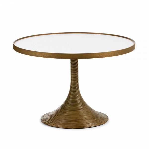 Стол La Luna OccasionalКофейные столики<br>Коллекция интерьерной мебелиВLa LunaВ— жемчужина ассортимента филиппинского бренда от Кеннета Кобонпу. Это подлинный шедевр, демонстрирующий исключительное мастерство в изготовлении плетеной мебели. АутентичнаяВLa LunaВ— результат кропотливой ручной работы, высокое качество в каждой детали.<br> <br> Кофейный столВLa Luna OccasionalВ— это стол-пара для одноименного кресла. В качестве основного материал использован ясеньВ— натуральный материал, обладающий неповтор...<br><br>stock: 0<br>Высота: 40<br>Диаметр: 60<br>Цвет ножек: Коричневый<br>Цвет столешницы: Белый<br>Материал ножек: Массив ясеня<br>Тип материала столешницы: Меламин<br>Тип материала ножек: Дерево<br>Дизайнер: Kenneth Cobonpue