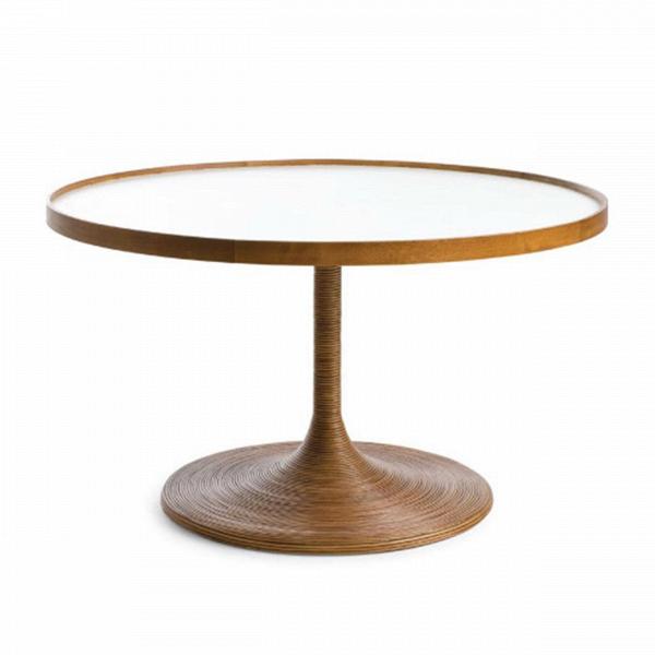 Стол La Luna OccasionalКофейные столики<br>Коллекция интерьерной мебелиВLa LunaВ— жемчужина ассортимента филиппинского бренда от Кеннета Кобонпу. Это подлинный шедевр, демонстрирующий исключительное мастерство в изготовлении плетеной мебели. АутентичнаяВLa LunaВ— результат кропотливой ручной работы, высокое качество в каждой детали.<br> <br> Кофейный столВLa Luna OccasionalВ— это стол-пара для одноименного кресла. В качестве основного материал использован ясеньВ— натуральный материал, обладающий неповтор...<br><br>stock: 0<br>Высота: 46<br>Диаметр: 80<br>Цвет ножек: Коричневый<br>Цвет столешницы: Белый<br>Материал ножек: Массив ясеня<br>Тип материала столешницы: Меламин<br>Тип материала ножек: Дерево<br>Дизайнер: Kenneth Cobonpue