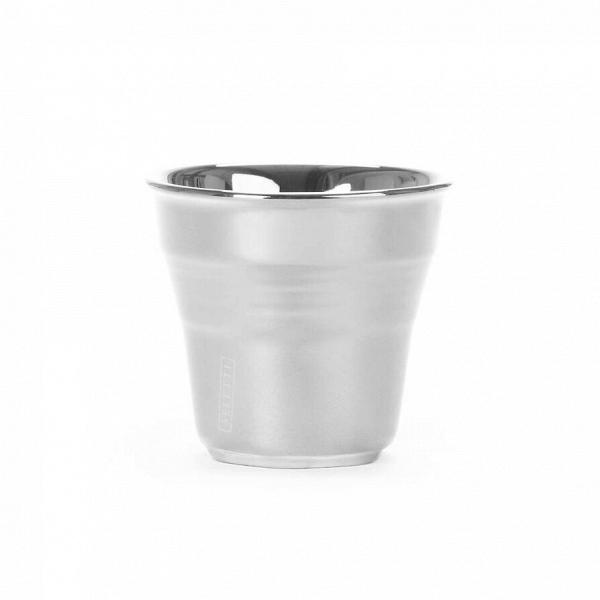 Кофейная чашка Estetico QuotidianoПосуда<br>Кофейная чашка Estetico Quotidiano из коллекции столовой посуды Estetico Quotidiano. Что вВнашей жизни может быть привычнее иВнезаметнее, чем, например, одноразовая посуда или пластиковые бутылки? Разве только посуда вВсобственном доме, наВрисунок которой уже давно неВобращаешь внимания.<br><br><br> Дизайнер Алессандро Дзамбелли совместно с компанией Seletti выпустили коллекцию столовой посуды под названием Estetico Quotidiano, что можно перевести сВитальянског...<br><br>stock: 6<br>Высота: 5,2<br>Материал: Фарфор<br>Цвет: Серебряный<br>Диаметр: 5,8