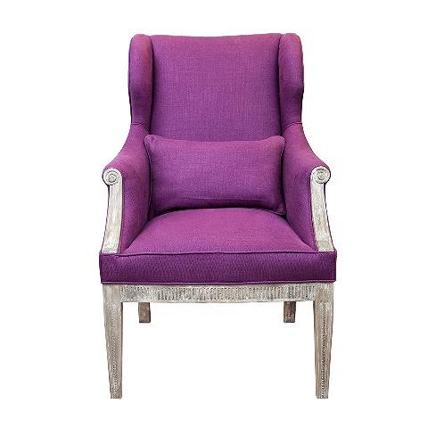 Кресло Синьора (VT10991-A1)Интерьерные<br>ROOMERS – это особенная коллекция, воплощение всего самого лучшего, модного и новаторского в мире дизайнерской мебели, предметов декора и стильных аксессуаров.<br>Интерьерные решения от ROOMERS – всегда актуальны, более того, они - на острие моды. Коллекции ROOMERS тщательно отбираются и обновляются дважды в год специально для вас.<br><br>stock: 3<br>Высота: 110<br>Ширина: 86<br>Материал: дерево, текстиль<br>Цвет: lavender<br>Длина: 71<br>Ширина: 86<br>Высота: 110<br>Длина: 71