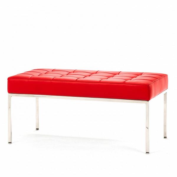 Скамья Florence кожаная ширина 93Скамьи и лавочки<br>Универсальная коллекция Florence включает вВсебя кресло для отдыха, диван, двухместную иВтрехместную скамьи.<br><br><br> Как иВмногие инновационные проекты, ставшие позже золотым стандартом мебельной промышленности, скамья Florence кожаная ширина 93 характеризуется объективным перфекционизмом современного дизайна иВархитектуры середины XX столетия.<br><br><br> Скамья Florence кожаная ширина 93 состоит изВотличных, индивидуально сшитых квадратов обивки, приложенной кВхро...<br><br>stock: 0<br>Высота: 43<br>Ширина: 93<br>Глубина: 50,5<br>Цвет ножек: Хром<br>Цвет сидения: Красный<br>Тип материала сидения: Кожа<br>Тип материала ножек: Сталь нержавеющая<br>Дизайнер: Florence Knoll