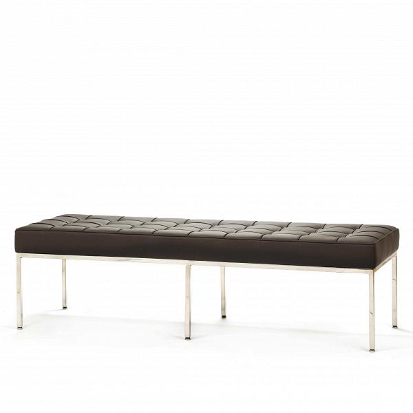 Скамья Florence кожаная ширина 154Скамьи и лавочки<br>Универсальная коллекция Florence включает вВсебя кресло для отдыха, диван, двухместную иВтрехместную скамью. Как иВмногие инновационные проекты, ставшие для мебельной промышленности золотым стандартом, скамья Florence характеризуется объективным перфекционизмом современного дизайна середины XX столетия иВархитектуры.<br><br><br> Скамья Florence кожаная ширина 154 состоит изВотличных, индивидуально сшитых квадратов обивки, приложенной кВхромированной стальной констр...<br><br>stock: 0<br>Высота: 43<br>Ширина: 153,5<br>Глубина: 50,5<br>Цвет ножек: Хром<br>Цвет сидения: Коричневый<br>Тип материала сидения: Кожа<br>Тип материала ножек: Сталь нержавеющая<br>Дизайнер: Florence Knoll