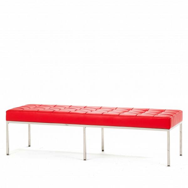 Скамья Florence кожаная ширина 154Скамьи и лавочки<br>Универсальная коллекция Florence включает вВсебя кресло для отдыха, диван, двухместную иВтрехместную скамью. Как иВмногие инновационные проекты, ставшие для мебельной промышленности золотым стандартом, скамья Florence характеризуется объективным перфекционизмом современного дизайна середины XX столетия иВархитектуры.<br><br><br> Скамья Florence кожаная ширина 154 состоит изВотличных, индивидуально сшитых квадратов обивки, приложенной кВхромированной стальной констр...<br><br>stock: 1<br>Высота: 43<br>Ширина: 153,5<br>Глубина: 50,5<br>Цвет ножек: Хром<br>Цвет сидения: Красный<br>Тип материала сидения: Кожа<br>Тип материала ножек: Сталь нержавеющая<br>Дизайнер: Florence Knoll