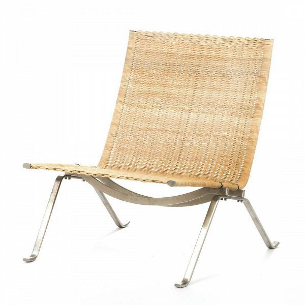 Кресло PK22Интерьерные<br>Дизайнерское широкое бежевое плетеное кресло PK22 (ПК22) из ротанга с металлическими ножками от Cosmo (Космо).<br><br><br> Изящное иВэлегантное кресло PK22 воплощает вВсебе результат поиска идеальной формы приверженца минимализма Поуля Кьерхольма. Это кресло — один изВсимволов датского дизайна вообще и Поуля Кьерхольма вВчастности. Мягкое кресло PK22 воплощает вВсебе простую элегантностьВ— типичный стиль Кьерхольма: комбинация стали иВивового прута или кожи в&amp;n...<br><br>stock: 0<br>Высота: 71<br>Высота сиденья: 34<br>Ширина: 63<br>Глубина: 65<br>Цвет ножек: Хром<br>Тип материала каркаса: Ротанг<br>Тип материала ножек: Сталь нержавеющая<br>Цвет каркаса: Бежевый<br>Дизайнер: Poul KjГ¦rholm