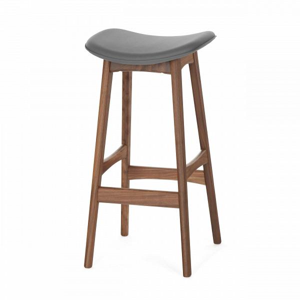 Барный стул Allegra высота 77Барные<br>Дизайнерский барный стул Allegra (Аллегра) на деревянном каркасе без спинки в различных цветах от Cosmo (Космо).Это универсальный стул для дома и частных заведений. Он отлично подойдет как для баров и ресторанов, так и для уютных гостиных и кухонь. Цвет натурального дерева и простота деталей делают его по-настоящему лаконичным, благодаря чему он прекрасно впишется в интерьеры различной стилевой направленности.<br> <br> Стройный силуэт оригинального барного стула Allegra высота 77 составляют прямы...<br><br>stock: 12<br>Высота: 76,5<br>Ширина: 40<br>Глубина: 38,5<br>Цвет ножек: Орех<br>Материал ножек: Массив ореха<br>Материал сидения: Полиуретан<br>Цвет сидения: Темно-серый<br>Тип материала сидения: Кожа искусственная<br>Коллекция ткани: Premium Grade PU<br>Тип материала ножек: Дерево