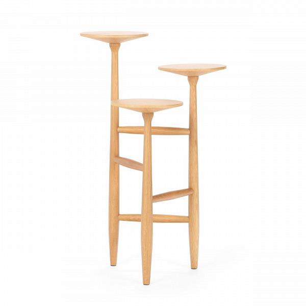 Кофейный стол Tripod высота 75Кофейные столики<br>Дизайнерский кофейный стол Tripod (Трайпод) с высотой 75 см и с тремя столешницами от Cosmo (Космо).<br>Данная модель принадлежит линейке кофейных столов Tripod от именитого американского дизайнера Шона Дикса. Дизайн кофейного стола не только забавный, но и невероятно стильный. Это уже успели понять огромное количество клиентов Шона по всему миру. Среди его заказчиков именитыеВYUM! Brands, Moschino, Bluebell, Harrods, Bosco diВCiliegi, Design Within Reach, Edimass, Fiorucci, Byblos, A...<br><br>stock: 0<br>Высота: 75,3<br>Ширина: 47<br>Диаметр: 43,7<br>Цвет ножек: Светло-коричневый<br>Цвет столешницы: Светло-коричневый<br>Материал ножек: Массив дуба<br>Материал столешницы: Фанера, шпон дуба<br>Тип материала столешницы: Фанера<br>Тип материала ножек: Дерево<br>Дизайнер: Sean Dix