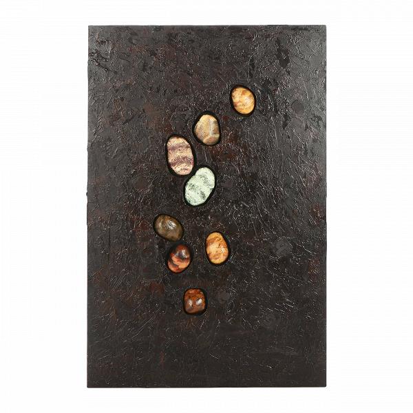 Картина ConcreteКартины<br>Картина ConcreteВ— это вариация другой картины от компании Cosmo — Melting, своего рода цветной вариант, который подходит другим по цветовому оформлению помещениям. Однако она создает несколько другой эффект. Если на первой изображена галька, напоминающая метеориты с далеких планет, которые будто расплавили под собой полотно, то здесь же создается впечатление, что камешки впечатаны в бетонный настил. Отсюда и названиеВ— Concrete, что с английского переводится как «бетон».ВОднак...<br><br>stock: 6<br>Ширина: 120<br>Материал: Роспись по дереву<br>Цвет: Темно-серый<br>Длина: 80