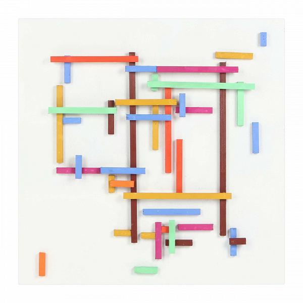 Картина FramesКартины<br>Компания Cosmo рада предложить любимый покупателями дизайн, доступный для различных по оформлению интерьеров. Большая часть продукции представлена в различных цветовых решениях, что открывает массу возможностей по использованию в разных по типу и дизайну помещениях. Картина Frames — это одна из вариаций оригинального белого панно, составленного с помощью небольших брусков. Ее цветной вариантВ— это более яркий и экспрессивный декор, который можно использовать как в помещениях, декорирован...<br><br>stock: 11<br>Ширина: 80<br>Материал: Роспись по дереву<br>Цвет: Разноцветный<br>Длина: 80