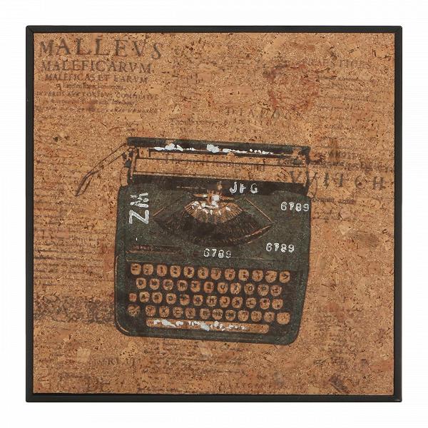 Картина TypewriterКартины<br>Когда вся мебель размещена в интерьере, в ход идет декор. Именно он расставляет акценты и придает интерьеру характер. С картинами из коллекции Cork от компании Cosmo вы сумеете создать интерьер своей мечты — яркий и атмосферный.В<br> <br> Картина Typewriter (в переводе c английского «печатная машинка») — модель с изображением пишущей машинки. Если вам близка богемнаяВромантика и вы натура творческая, то вам непременно понравится каждая из моделей коллекции.ВНадписи, разбитые на кол...<br><br>stock: 9<br>Ширина: 32<br>Материал: Роспись по дереву<br>Длина: 32
