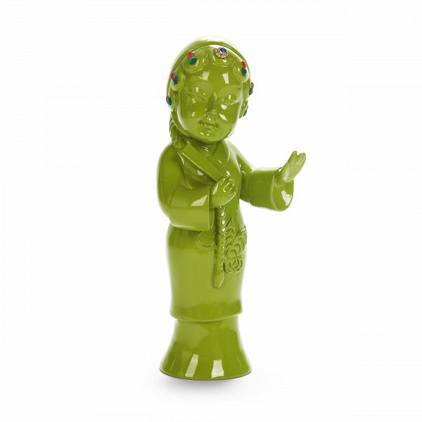 Статуэтка Geisha 2Настольные<br>Дизайнерская декоративная зеленая статуэтка Geisha (Гейша) из полистоуна от Cosmo (Космо).Говорить об актуальности декора в мире современного дизайна не приходится, это очевидно. Наряду с появлением новых трендов меняются все составляющие дизайна. ОдноВиз последних значимых изменений — это возврат к истокам. Чтить традиции и культуру теперь не только жест уважения, но и особое движение, актуализирующееся в мире современного дизайна. Коллекция J for Japan — соответствующая современным тре...<br><br>stock: 2<br>Высота: 25<br>Ширина: 8<br>Материал: Полистоун<br>Цвет: Зелёный<br>Длина: 10