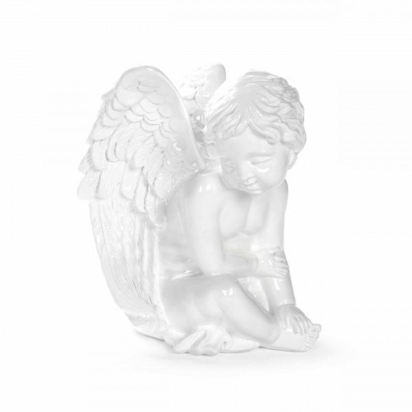 Статуэтка InnocenceНастольные<br>Дизайнерская белая статуэтка ангела Innocence (Инносэнс) из полистоуна от Cosmo (Космо).<br> Красивые расписные тарелочки, изящные картины старых мастеров, бюсты великих людей или древних богинь, а также белоснежные статуи ангелов — все это характеризует незыблемую классику в искусстве украшения своего жилища. Классика для многих является излюбленным стилем, и ей стоит уделять особое внимание, чтобы создать красивую, элегантную и уютную обстановку.<br><br><br> Необычайно милая и нежная оригинальная...<br><br>stock: 12<br>Высота: 25,5<br>Ширина: 28<br>Материал: Полистоун<br>Цвет: Белый<br>Длина: 22