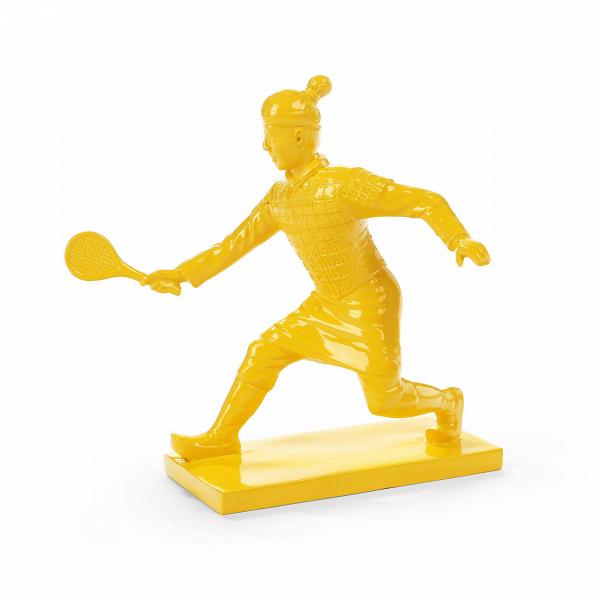 Статуэтка Idler 2Настольные<br>Дизайнерская декоративная желтая статуэтка теннисиста Idler (Айдлэр) из полистоуна от Cosmo (Космо).<br> Порой хочется, чтобы какие-то элементы в интерьере дома или рабочего офиса напоминали об отдыхе и разнообразии, хобби и увлечениях. Особенно это важно для занятых людей, в таком случае просто необходимо иметь на виду то, что поможет вспомнить о небольшой передышке или активном отдыхе. Именно об этом нам рассказывает представленная здесь мини-скульптура.<br><br><br> Оригинальная статуэтка Idler 2 ...<br><br>stock: 15<br>Высота: 21,5<br>Ширина: 15,5<br>Материал: Полистоун<br>Цвет: Желтый<br>Длина: 21,5