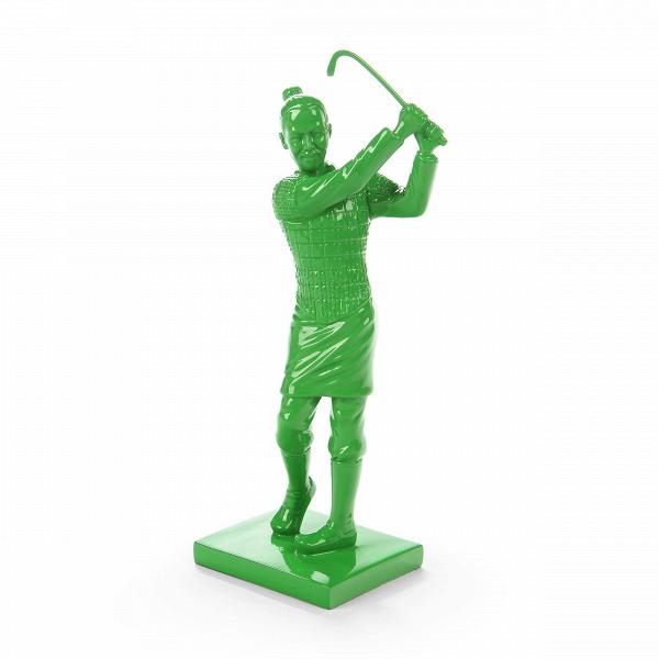 Статуэтка Idler 1Настольные<br>Дизайнерская высокая зеленая статуэтка Idler (Айдлэр) из полистоуна от Cosmo (Космо).<br> Порой хочется, чтобы какие-то элементы в интерьере дома или рабочего офиса напоминали об отдыхе и разнообразии, хобби и увлечениях. Особенно это важно для занятых людей, в таком случае просто необходимо иметь на виду то, что поможет вспомнить о небольшой передышке или активном отдыхе. Именно об этом нам рассказывает представленная здесь мини-скульптура.<br><br><br> Оригинальная статуэтка Idler 1 (в переводе с а...<br><br>stock: 15<br>Высота: 29<br>Ширина: 9<br>Материал: Полистоун<br>Цвет: Зелёный<br>Длина: 13