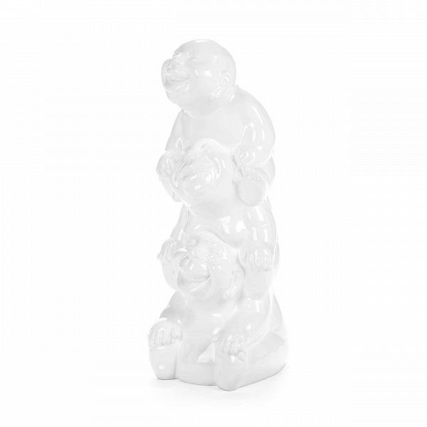 Статуэтка Three SilliesНастольные<br>Дизайнерская высокая белая настольная статуэтка Three Sillies (Фри Силлис) из полистоуна от Cosmo (Космо).<br>         Необычные и неожиданные детали в интерьере способны отлично поднять настроение и улучшить всю атмосферу в доме. Существует огромное множество различных способов подбора подходящего декора, но веселый и творческий подход к своему интерьеру подарит удовольствие не только вам, но и всем вашим гостям. Статуэтки в этом процессе занимают далеко не последнее место.<br><br><br> Статуэтка Thr...<br><br>stock: 1<br>Высота: 60<br>Ширина: 23<br>Материал: Полистоун<br>Цвет: Белый<br>Длина: 24