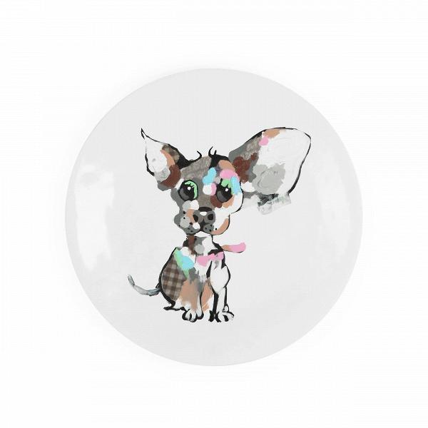 Декоративная тарелка PuppyНастенный декор<br>Декоративные тарелки — это необычный, хотя и вполне привычный способ украшения домашнего интерьера. Однако это украшение не стоит недооценивать, оно характерно не только для традиционного стиля в дизайне интерьера, но и запросто сможет интегрироваться в обитель современного типа.<br><br><br> Декоративная тарелка Puppy — это ярчайшее доказательство того, что они могут принадлежать не только традиционной классике, но и другим видам комнатного интерьера. В данном случае — это веселый молодежный ст...<br><br>stock: 12<br>Высота: 7<br>Ширина: 61<br>Материал: Полистоун<br>Цвет: Разноцветный<br>Длина: 61<br>Цвет дополнительный: Белый